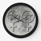 Wiccan Moon Lesbian Handfasting Clock
