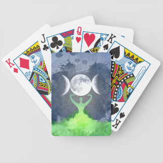 Wiccan Mother Earth Goddess Moon Bicycle Playing Cards