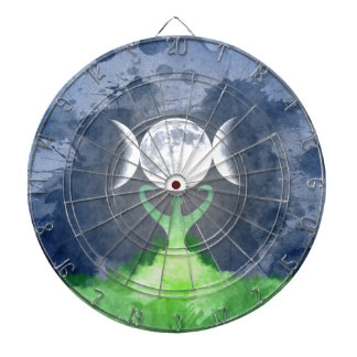 Wiccan Mother Earth Goddess Moon Dartboards