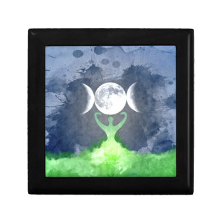 Wiccan Mother Earth Goddess Moon Gift Box