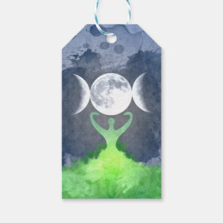 Wiccan Mother Earth Goddess Moon Gift Tags
