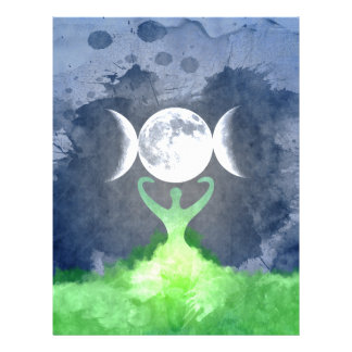 Wiccan Mother Earth Goddess Moon Letterhead