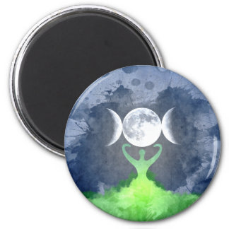 Wiccan Mother Earth Goddess Moon Magnet