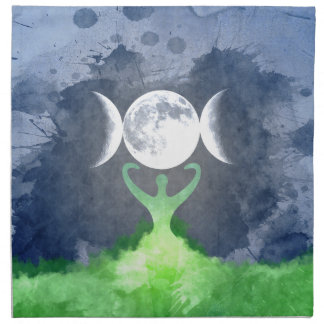 Wiccan Mother Earth Goddess Moon Napkin