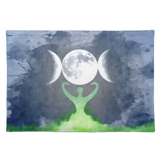 Wiccan Mother Earth Goddess Moon Placemat