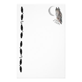 Wiccan Owl - Hecate's Guardian Custom Stationery