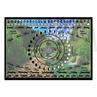 Wiccan Pagan Pendulum Chart Card