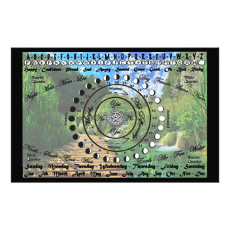 Wiccan Pagan Pendulum Chart Stationery