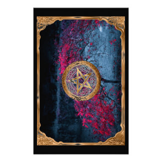 Wiccan Pagan Pentagram Alter Cloth Stationery