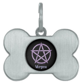 Wiccan Pet PURPLE Personalized Pet Tag
