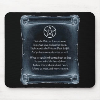 Wiccan Rede Mousepad