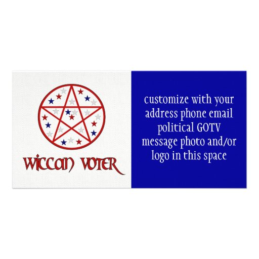 WICCAN VOTER PERSONALIZED PHOTO CARD