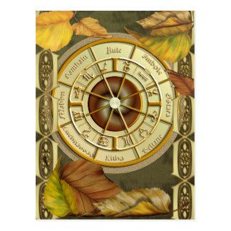 Wiccan Wheel 2012 Calendar Postcard
