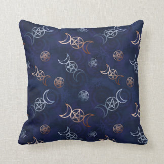 Wiccan Witch Pentagram Pagan Occult Wizard Throw Pillow