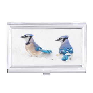 Wichita County, Texas. Blue Jay 2 Business Card Case
