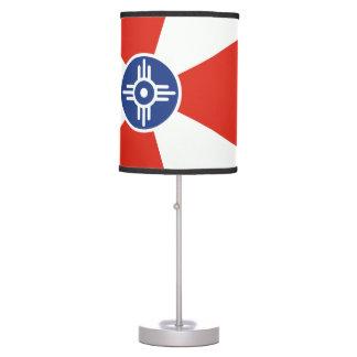 Wichita Kansas ICT Flag Table Lamp