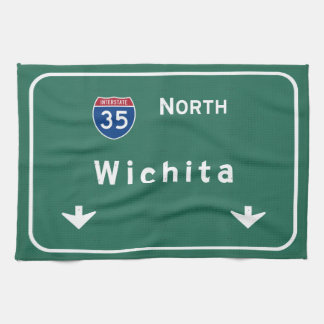 Wichita Kansas ks Interstate Highway Freeway : Hand Towels