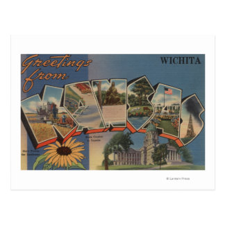 Wichita, Kansas - Large Letter Scenes Postcard