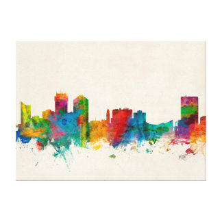 Wichita Kansas Skyline Canvas Prints