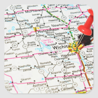 Wichita, Kansas Square Sticker