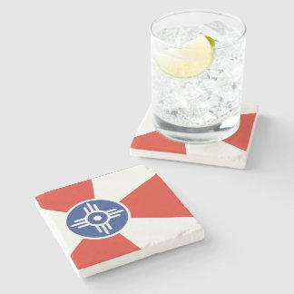 Wichita KS ICT Flag Stone Coaster
