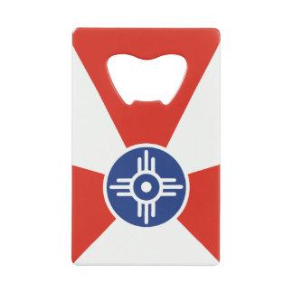 Wichita KS ICT Flag Wallet Bottle Opener