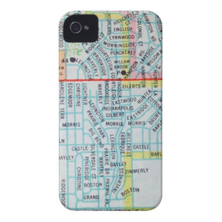 Wichita, KS Vintage Map iPhone 4 Case-Mate Cases