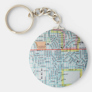 Wichita, KS Vintage Map Keychain
