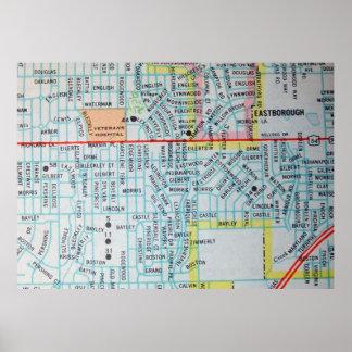 Wichita, KS Vintage Map Poster