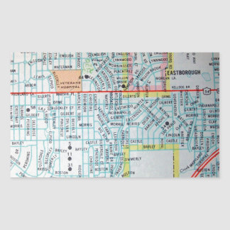 Wichita, KS Vintage Map Sticker