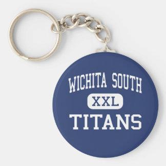 Wichita South - Titans - High - Wichita Kansas Basic Round Button Keychain