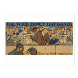Wick Fancy Hat Bands Advertisement Poster 1910 Postcard