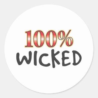 Wicked 100 Percent Round Stickers