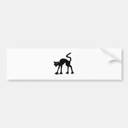 Wicked Black Cat Hiss! Bumper Sticker