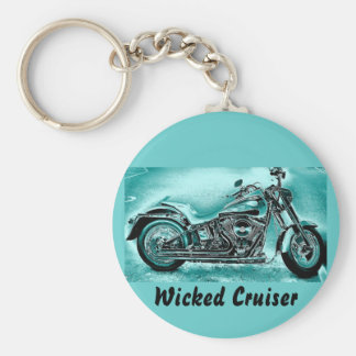 Wicked Cruiser Basic Round Button Keychain