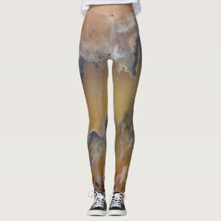 Wicked Cute Mossy Agate Natural Rock Designed Leggings