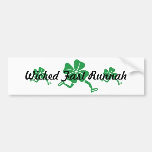 Wicked Fast Runnah Bumper Stickers