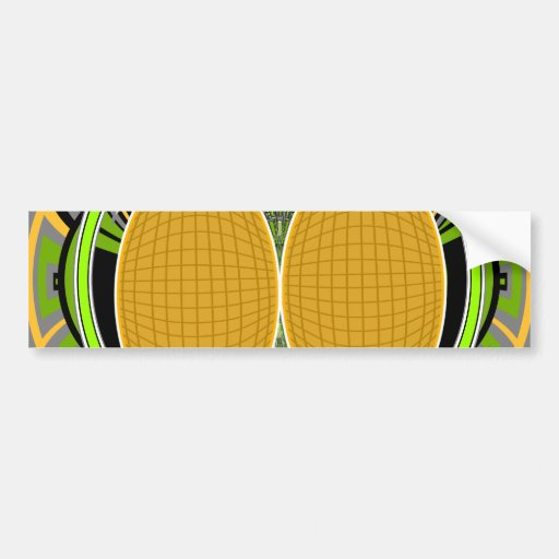 Wicked green and yellow superfly skateboard design bumper stickers