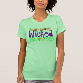 Wicked Halloween with Sculls- Women's Top T-shirt