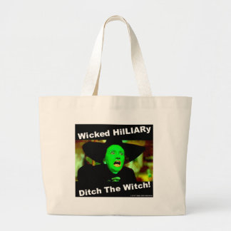 Wicked Hillary Ditch The Witch Large Tote Bag