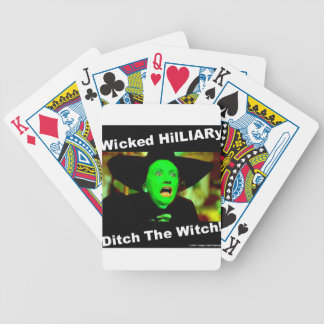 Wicked Hillary Ditch The Witch Poker Deck