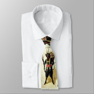 Wicked Krampus Scary Demon Holiday Christmas Xmas Tie