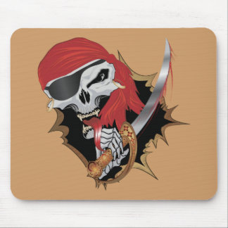 Wicked Pirate Skull Mouse Pad