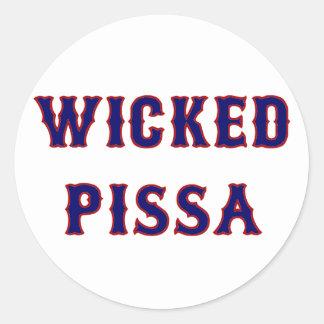 Wicked Pissa Classic Round Sticker
