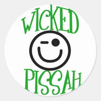 Wicked Pissah Round Sticker
