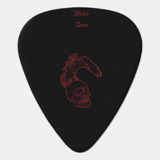 Wicked raven guitar pick