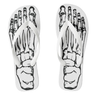 Wicked Skeleton Bones Flip Flops