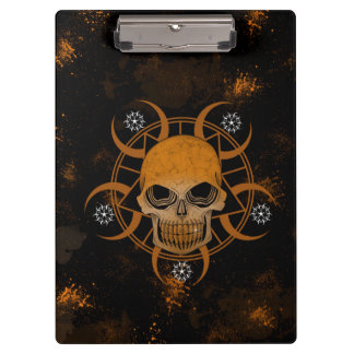 Wicked Skull With Crop Circles Clipboards
