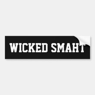 Wicked Smaht Funny Boston Accent Bumper Sticker