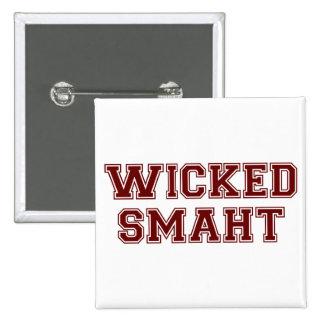 Wicked Smart (Smaht) College Boston 2 Inch Square Button